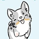 CARDIGAN Corgi Valentine -LOTS OF KISSES- by IdentityPro