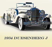 1934 Duesenberg J w/ID by DaveKoontz