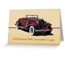 1932 Packard 900 Convertible Coupe w/ID Greeting Card