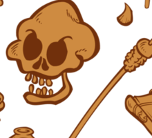 The Curse of Monkey Island Inventory (brown) Sticker