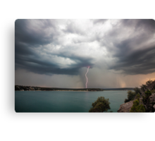 Cronulla Lightning Bolt Canvas Print