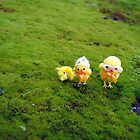 Chicks on Moss by Humperdink