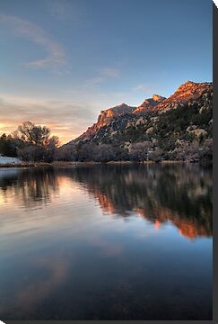 Last Light Granite Basin by Bob Larson