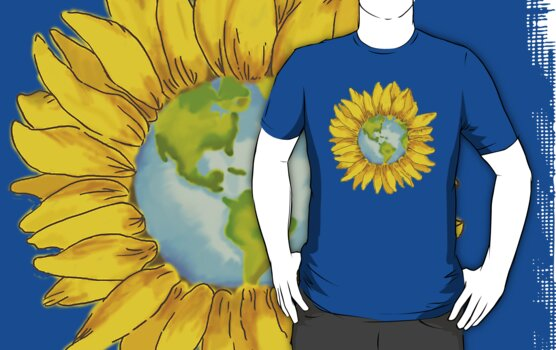 Sunflower World by Samantha Huckabay