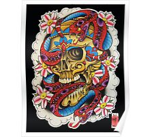 Skull and Snakes Poster