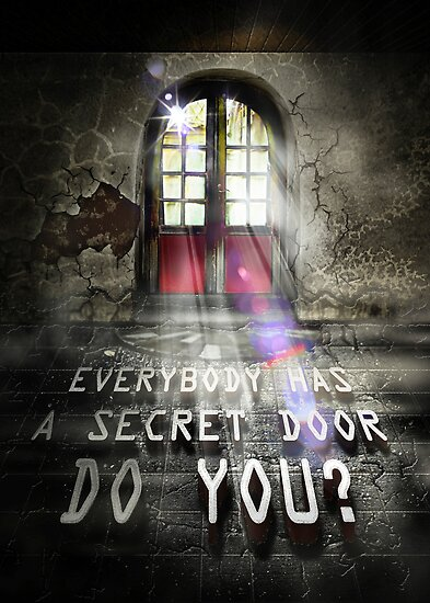 Everybody has a secret door, Do you? by Vidka Art