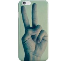 a sign of peace iPhone Case/Skin