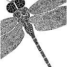 Dragon Fly Doodled by artbybrad
