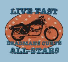 Live Fast Deadmans Curve All Stars Motorcycle Kids Clothes