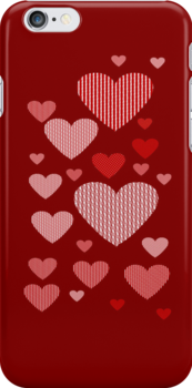 Patchwork Hearts by ScaleDesigns