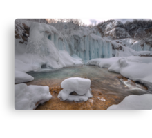 Plitvice in winter Canvas Print