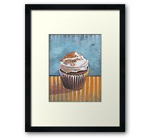 Summertime Yellow Cupcake Framed Print