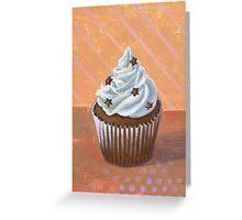 Chocolate Stars Cupcake Greeting Card