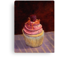 Purple Raspberry Cupcake Canvas Print