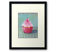 Pink Mountain Cupcake Framed Print
