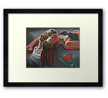 Lovers - Peace, Love and Happiness Framed Print