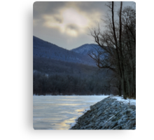 God Looked Down Upon The Frozen Earth Canvas Print