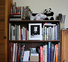 Panda and Cow's bookcase by Maggie Hegarty