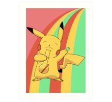 Pikachu Stoned Art Print