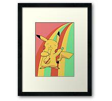 Pikachu Stoned Framed Print