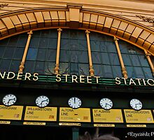 Flinders Street Station Melbourne 2 by ezycardz