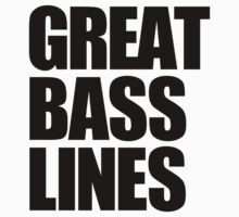 Great Bass Lines (black) by DropBass