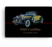 1929 Cadillac Convertible Coupe Canvas Print