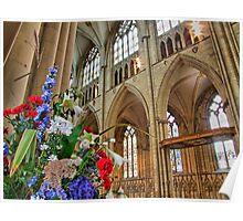 Flowers York Minster - HDR Poster