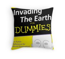 Dr Who Auton Joke Throw Pillow