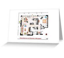 Floorplan of the apartment of Dexter Morgan v.2 Greeting Card