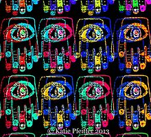 Color Pop Art Hamsa Hands by Kater