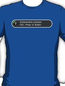 XBox Achievements - Press A Button T-Shirt