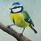 Blue Tit by Lynne  M Kirby BA(Hons)