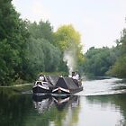 working narrowboat pair by elsiebarge