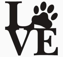 LOVE DOG PAW by thatstickerguy