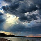 Sunrays Over Lake Eufaula by Carolyn  Fletcher