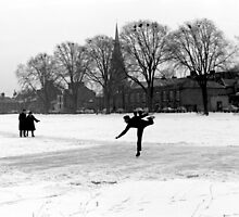 Skating on Parker's Piece, Cambridge, 1963 by NevilleNewman