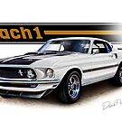 1969 Mustang Mach 1 in White by davidkyte