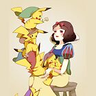 Snow White and the 7 pikachu by mascheratore