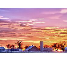 Early Country Colorado Morning Sunrise Photographic Print
