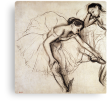Two Dancers Resting  Canvas Print
