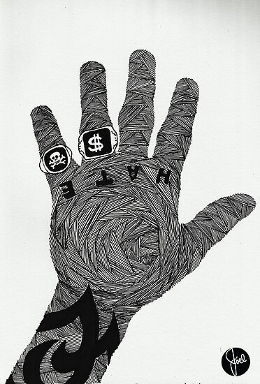 The Hand of Hate by joelwilluk