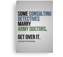 Some Consulting Detectives... Canvas Print