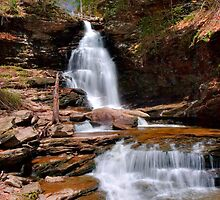 Electric Blue Skies Over Ozone Falls by Gene Walls