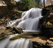 Splash of Sunlight on Shawnee Falls by Gene Walls