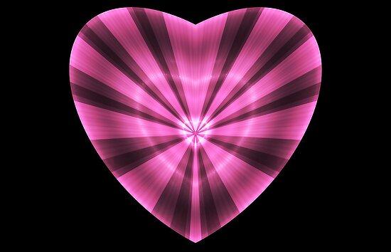 Striped Heart by Sandy Keeton