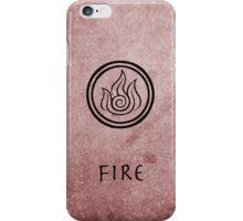 Avatar Last Airbender Elements - Fire iPhone Case/Skin
