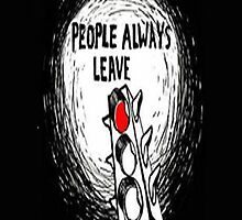 "One Tree Hill: ""People always leave"" - Iphone Case  by sullat04"