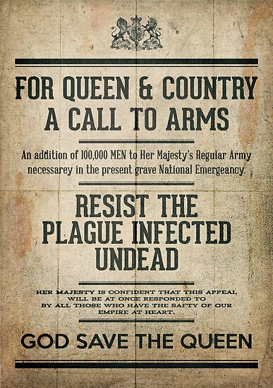 Resist the Plague infected undead by SixPixeldesign