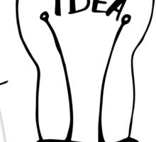 Idea lamp Sticker